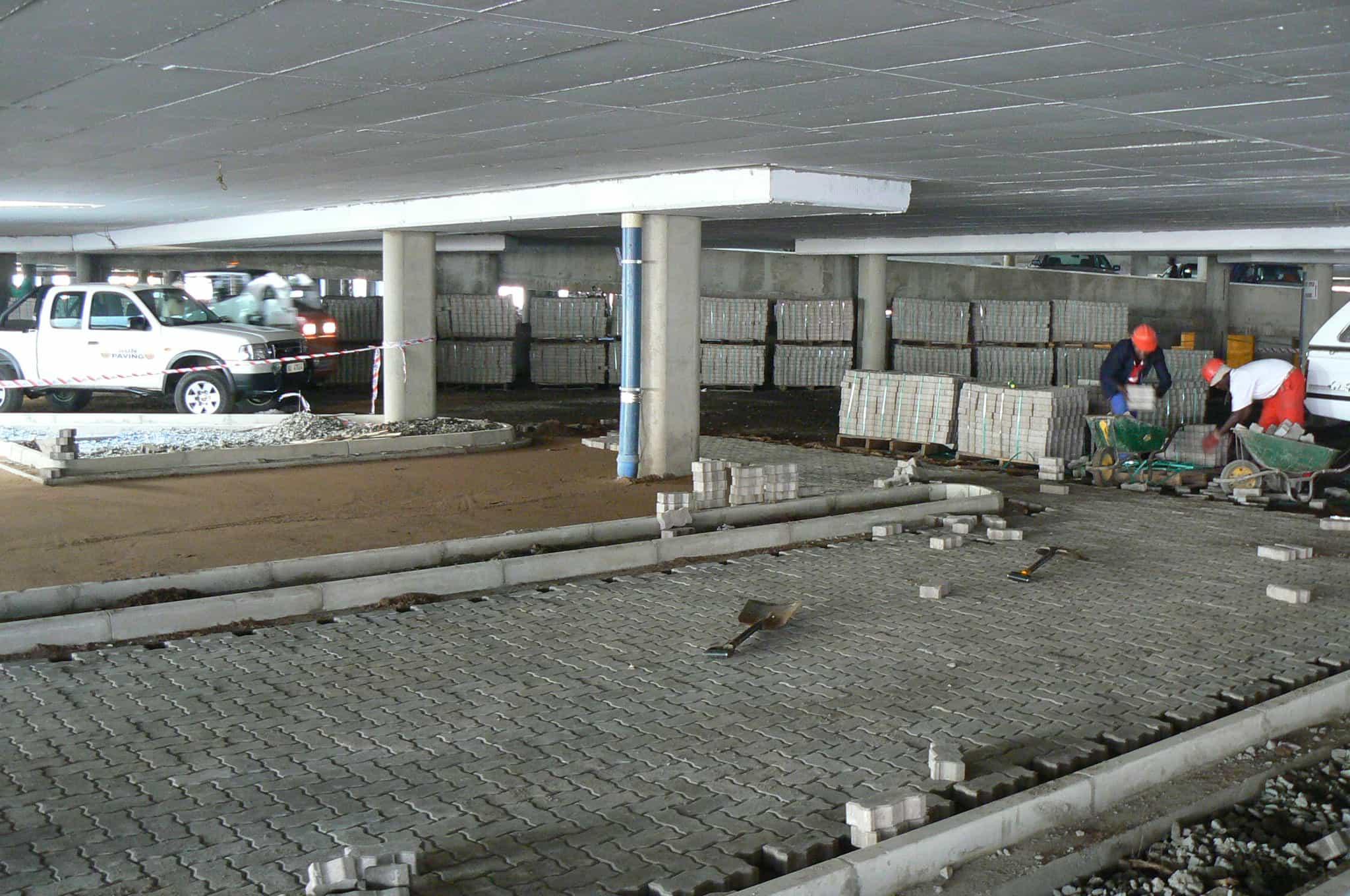 Underground parking paving