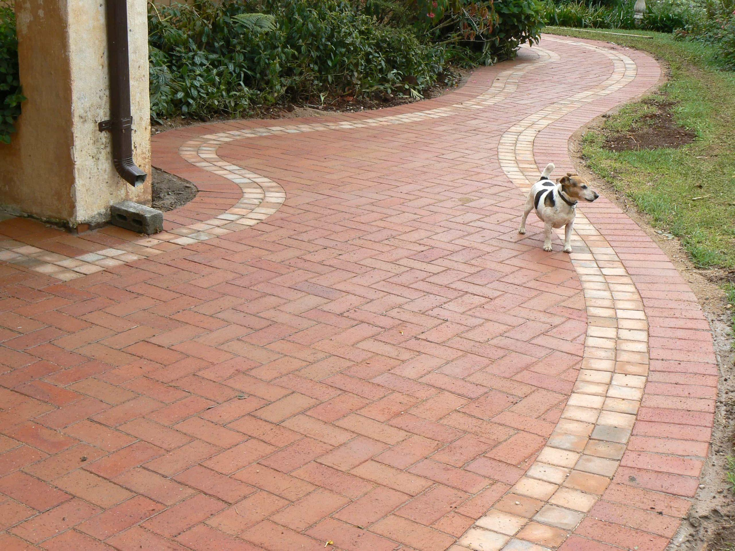 Ironstone clay paving driveway