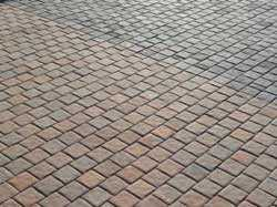 a close up view of a brick paving done by sun paving