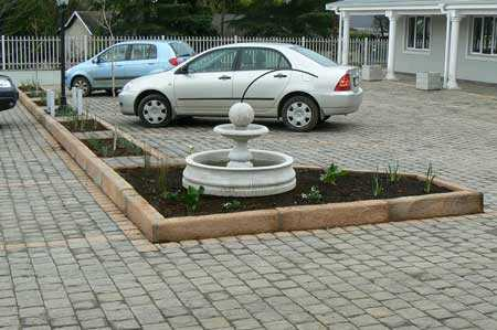 Commercial paving for parking space