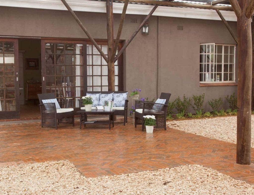 Patio paving outdoor residential